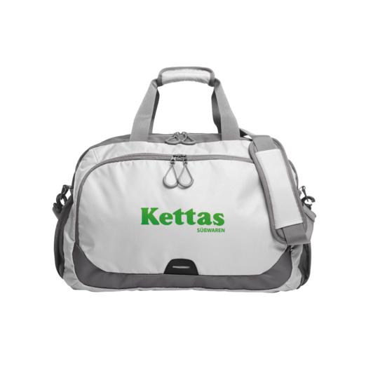 aa8f7b0b632db Sporttasche mit individuellem Logo in strahlendem weiß.
